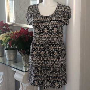 Lucky Brand Aztec Mini Drawstring Pocket Dress XL